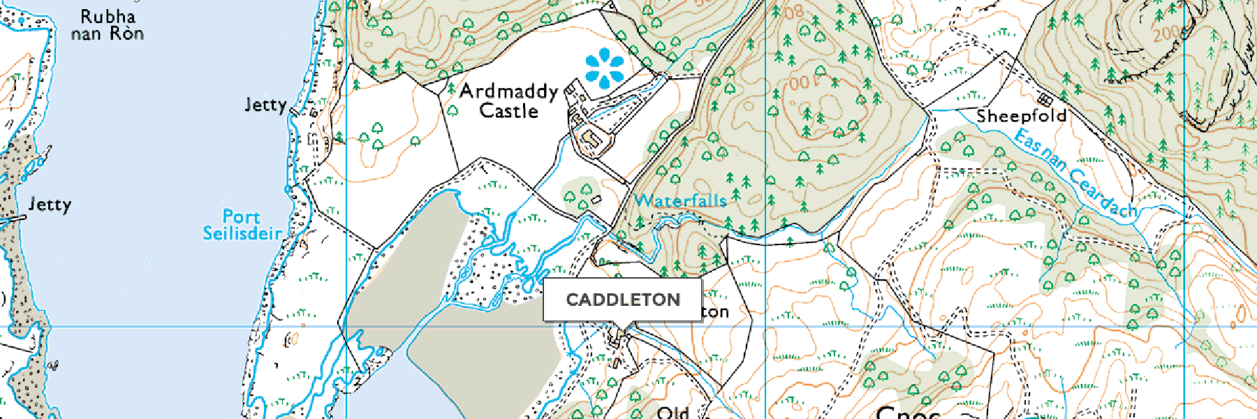 Caddleton Map